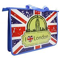 """Пластиковый портфель на змейке """"Лондон"""" 460323"""
