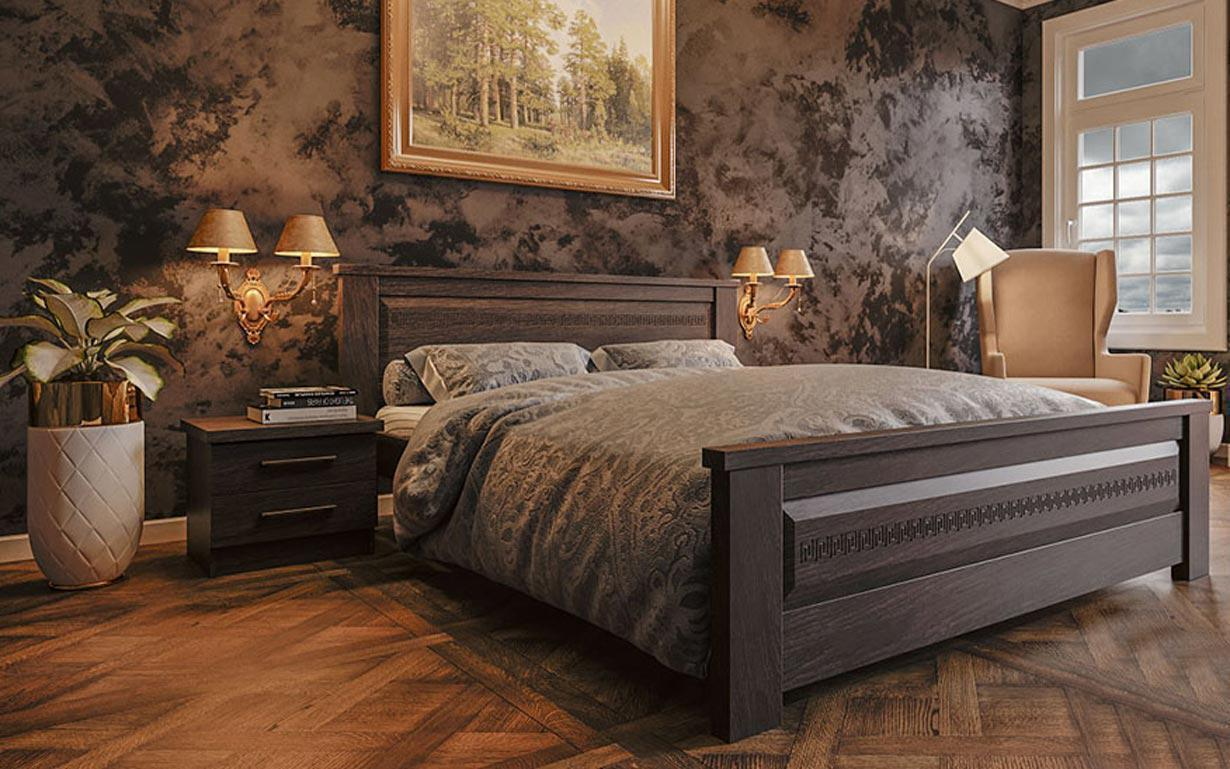 Деревянная кровать Элит-нью 90х190 см. ЧДК