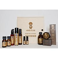 Мужской подарочный набор Barba Italiana для волос, бритья и бороды из 10 продуктов в деревянной коробке