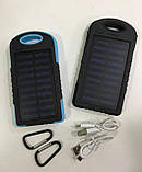 Сонячне зарядний пристрій Power Bank A50 20800 mAh | Повербанк з сонячною батареєю, фото 2