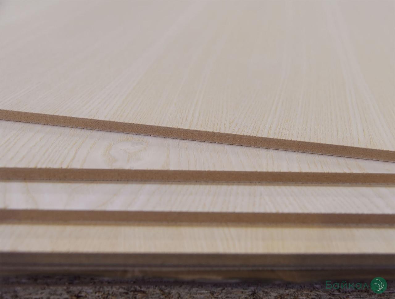 МДФ плита шпонированная Белым Ясенем 9 мм А/В  2,80х2,07 м