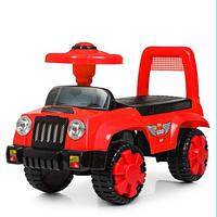 Каталка-толокар детская Q 11-1-3 музыкальная,красного цвета.
