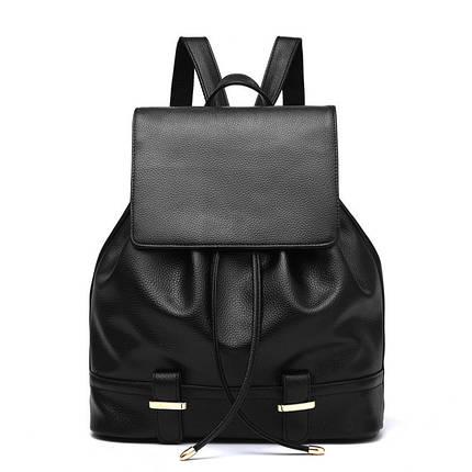 Женский городской рюкзак. Стильные женские рюкзаки в четырех цветах: красный, черный, бежевый, синий, желтый. Черный, фото 2