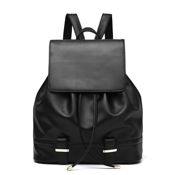 Женский городской рюкзак. Стильные женские рюкзаки в четырех цветах: красный, черный, бежевый, синий, желтый. Черный