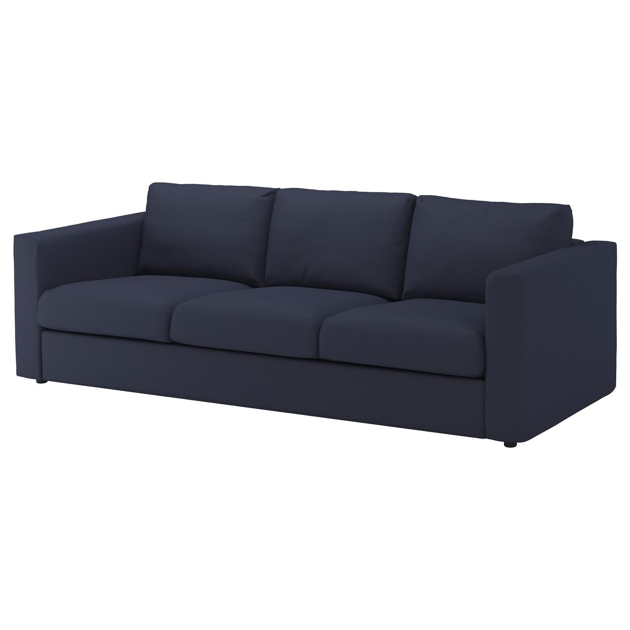 3-местный диван IKEA VIMLE Orrsta темно-синий 392.847.57