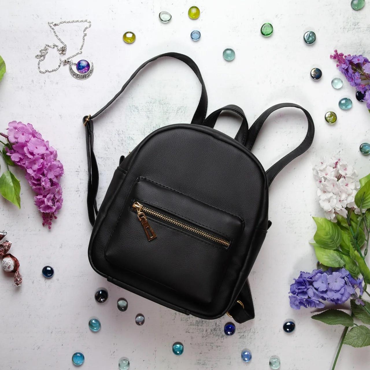 Женский рюкзак черный SamBag разные размеры 11115001