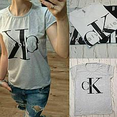 """Футболка женская хлопковая """"Calvin Klein"""" реплика Турция размер S,M,L (от 3 шт), фото 2"""