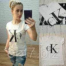 """Футболка женская хлопковая """"Calvin Klein"""" реплика Турция размер S,M,L (от 3 шт), фото 3"""