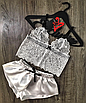 """Красивая женская атласная пижама """"Orlando"""", фото 3"""