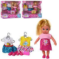 Игровой набор маленькая кукла пупс с набором платьев и туфель, дочка барби 13 см, 8253