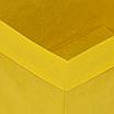 Скринька для зберігання іграшок, 25*25*30 см, (спанбонд), з відворотом жовтий, фото 2