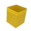 Скринька для зберігання іграшок, 30*30*40 см, (спанбонд), з відворотом жовтий, фото 3