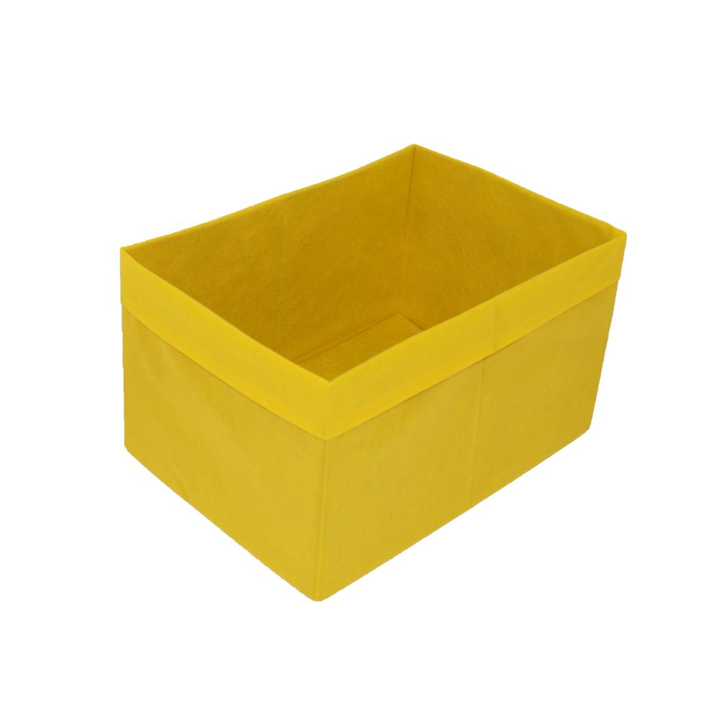 Скринька для зберігання іграшок, 25*35*20 см, (спанбонд), з відворотом жовтий