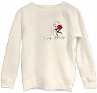 Свитшот Роза, молоко, XS, Henry Mill