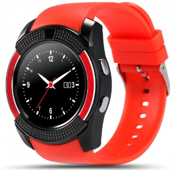 Красные умные часы Smart Watch V8