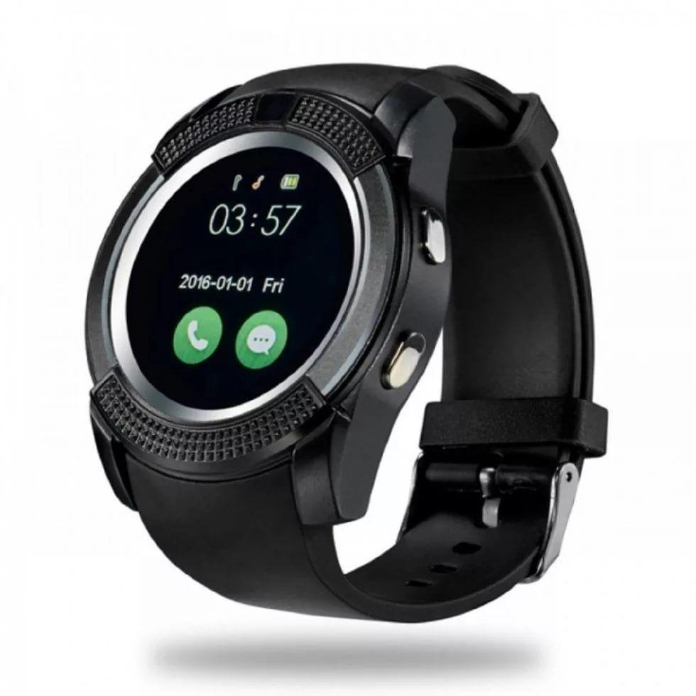 Черные умные часы Smart Watch V8