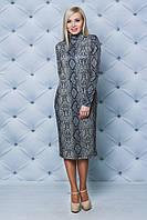 Повседневное женское платье с цветочным принтом, фото 1