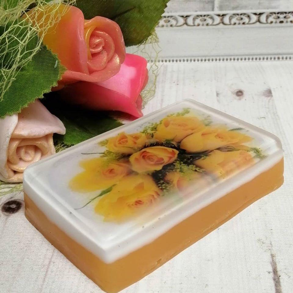 """Глицериновое мыло """"Желтые розы"""""""