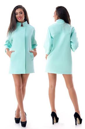 Кашемировое пальто с воротником-стойкой, фото 2