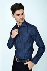 Рубашка sw10-6 цвет Темно-синий, фото 3