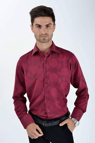 Рубашка SW10-3 цвет Бордо, фото 2
