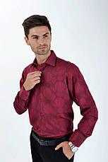 Рубашка SW10-3 цвет Бордо, фото 3