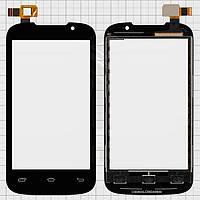 Touchscreen (сенсорный экран) для Prestigio MultiPhone 3400 Duo, черный, оригинал