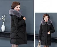 Пуховик куртка женский Mila р-ры 48-56 большие размеры черный