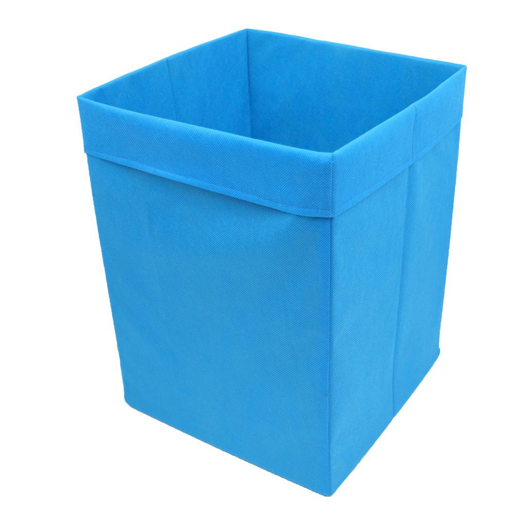 Скринька для зберігання іграшок, 30*30*40 см, (спанбонд), з відворотом синій