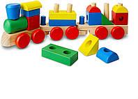 Деревянная игрушка Поезд из кубиков ТМ Melissa & Doug
