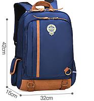 Оригинальный школьный рюкзак. Синий. Код 367 Маленький.