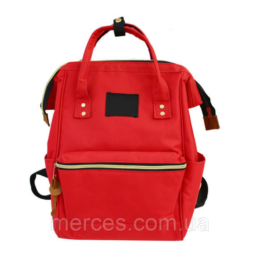 Красная сумка рюкзак женский ранец ЕКО водонепроницаемая ткань Оксфорд  сумка рюкзак шопер 157Вk