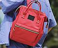 Красная сумка рюкзак женский ранец ЕКО водонепроницаемая ткань Оксфорд  сумка рюкзак шопер 157Вk, фото 2