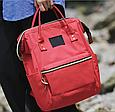 Красная сумка рюкзак женский ранец ЕКО водонепроницаемая ткань Оксфорд  сумка рюкзак шопер 157Вk, фото 4