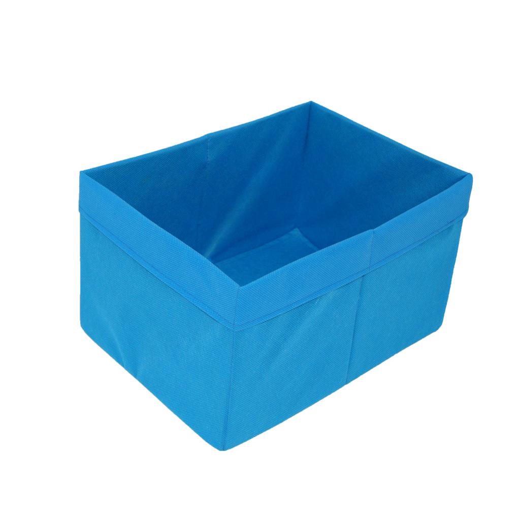 Скринька для зберігання іграшок, 25*35*20 см, (спанбонд), з відворотом синій