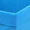 Скринька для зберігання іграшок, 25*35*20 см, (спанбонд), з відворотом синій, фото 2