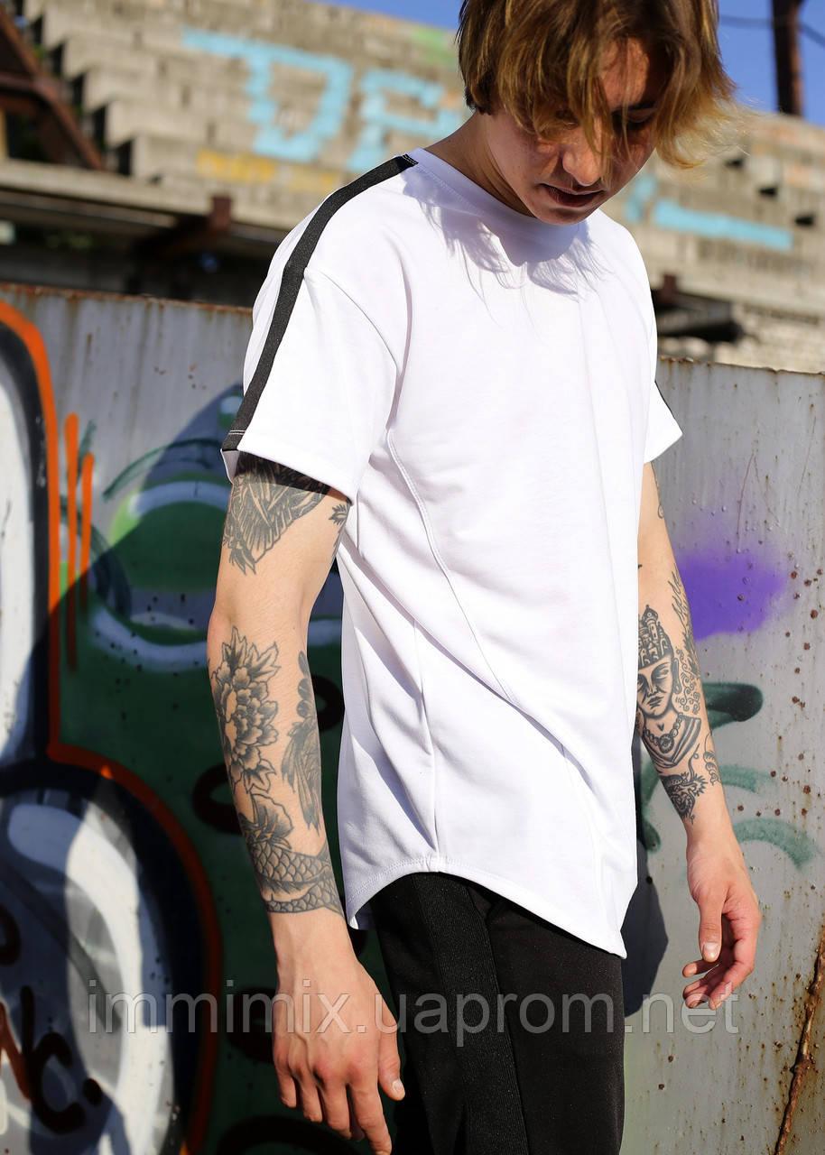Купить Мужская удлиненная белая футболка Freeman
