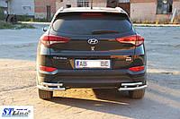 Hyundai Tucson (16+) защитная дуга защита заднего бампера на для Хендай Туксон Hyundai Tucson (16+) углы d60х1,6мм