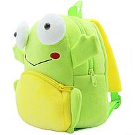 """Детский рюкзачок для малышей """"Лягушка"""" велюр маленький для садика мягкий зеленый дошкольный унисекс"""