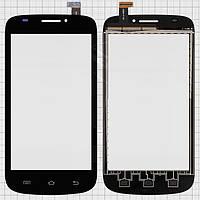 Touchscreen (сенсорный экран) для Prestigio MultiPhone 5000 Duo, оригинал, черный
