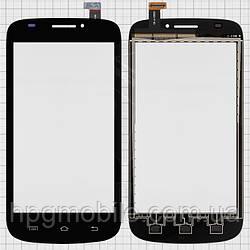 Touchscreen (сенсорный экран) для Prestigio MultiPhone 5000 Duo, черный, оригинал