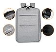 Рюкзак міський сірий з USB легкий Minimalist Urban 365, фото 5
