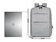 Рюкзак міський сірий з USB легкий Minimalist Urban 365, фото 3