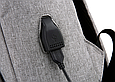 Рюкзак міський сірий з USB легкий Minimalist Urban 365, фото 8