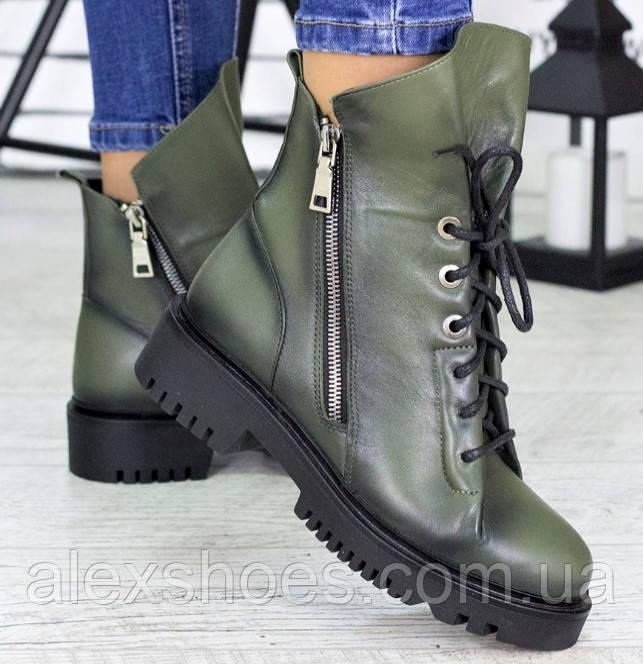 Ботинки женские молодежные из натуральной кожи от производителя модель СЛ6720