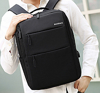Рюкзак черный водонепроницаемый легкий с  USB Minimalist Urban 565