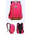 Оригінальний шкільний рюкзак і ранець рожевий маленький 367R, фото 2