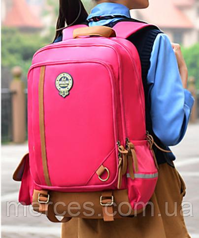 Оригінальний шкільний рюкзак і ранець рожевий маленький 367R