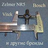 Односторонний нож №5 для мясорубки Zelmer, Bosch (оригинал)