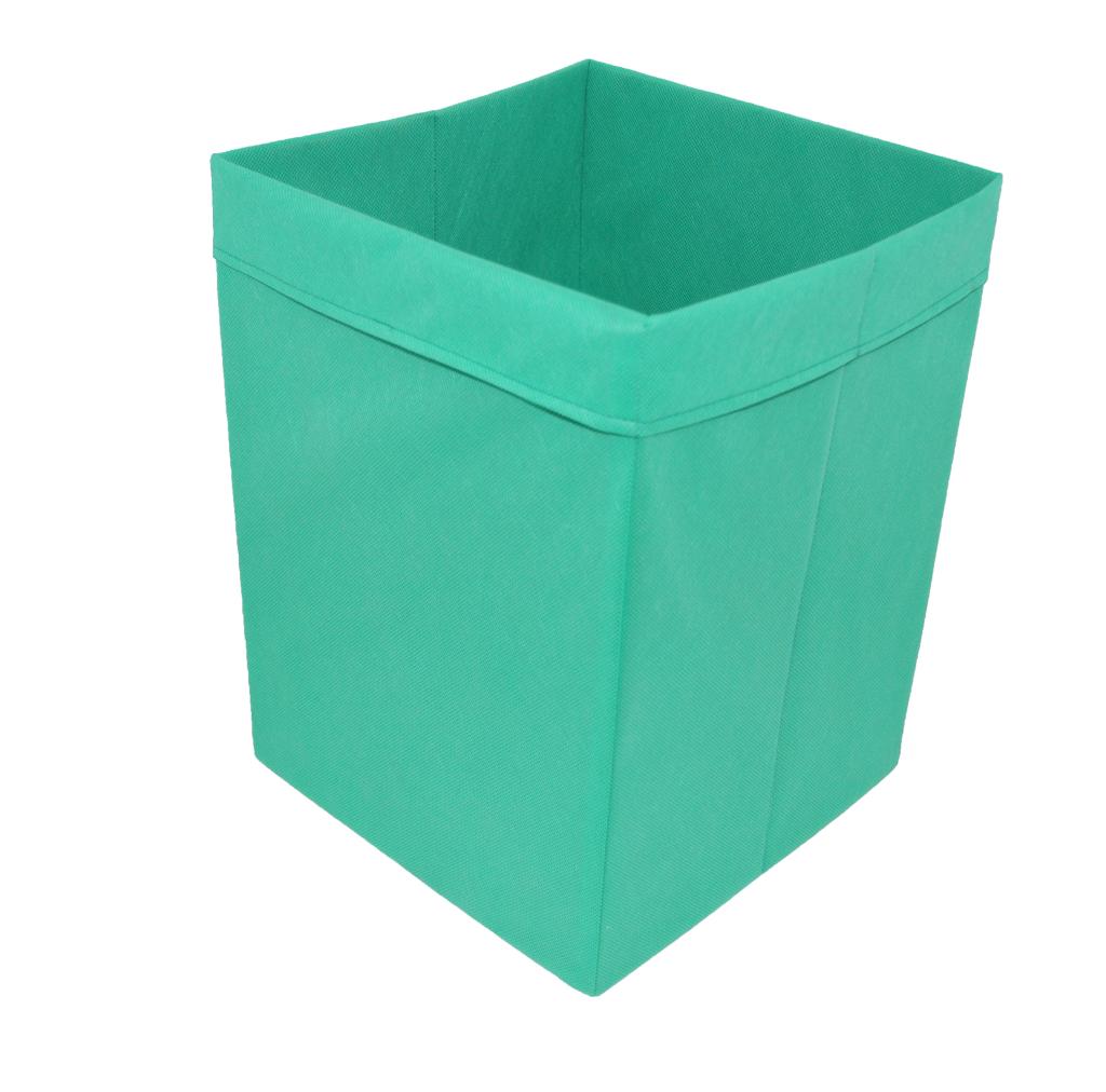 Скринька для зберігання іграшок, 25*25*30 см, (спанбонд), з відворотом зелений